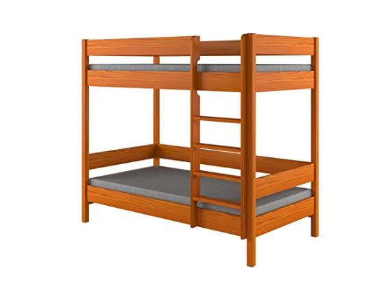 Litera para niños con marco de madera, de Dino, madera, Blanco, 180x90x160: Amazon.es: Hogar