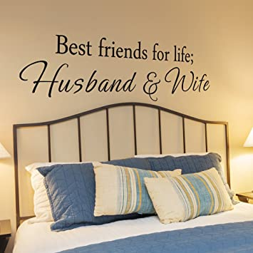 Amazoncom Best Friends For Life Husband And Wife Vinyl Bedroom