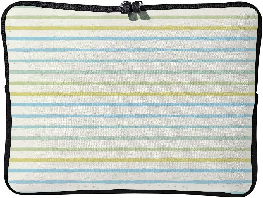 C COABALLA Striped Decor,Watercolor Paint Brush Pattern Cushion Protective Waterproof Laptop Case Bag Sleeve for Laptop AM030302 15 inch//15.6 inch