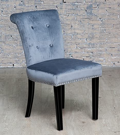 Other Grey Velvet Studded Dressing Table Chair: Amazon.co.uk: Kitchen U0026 Home