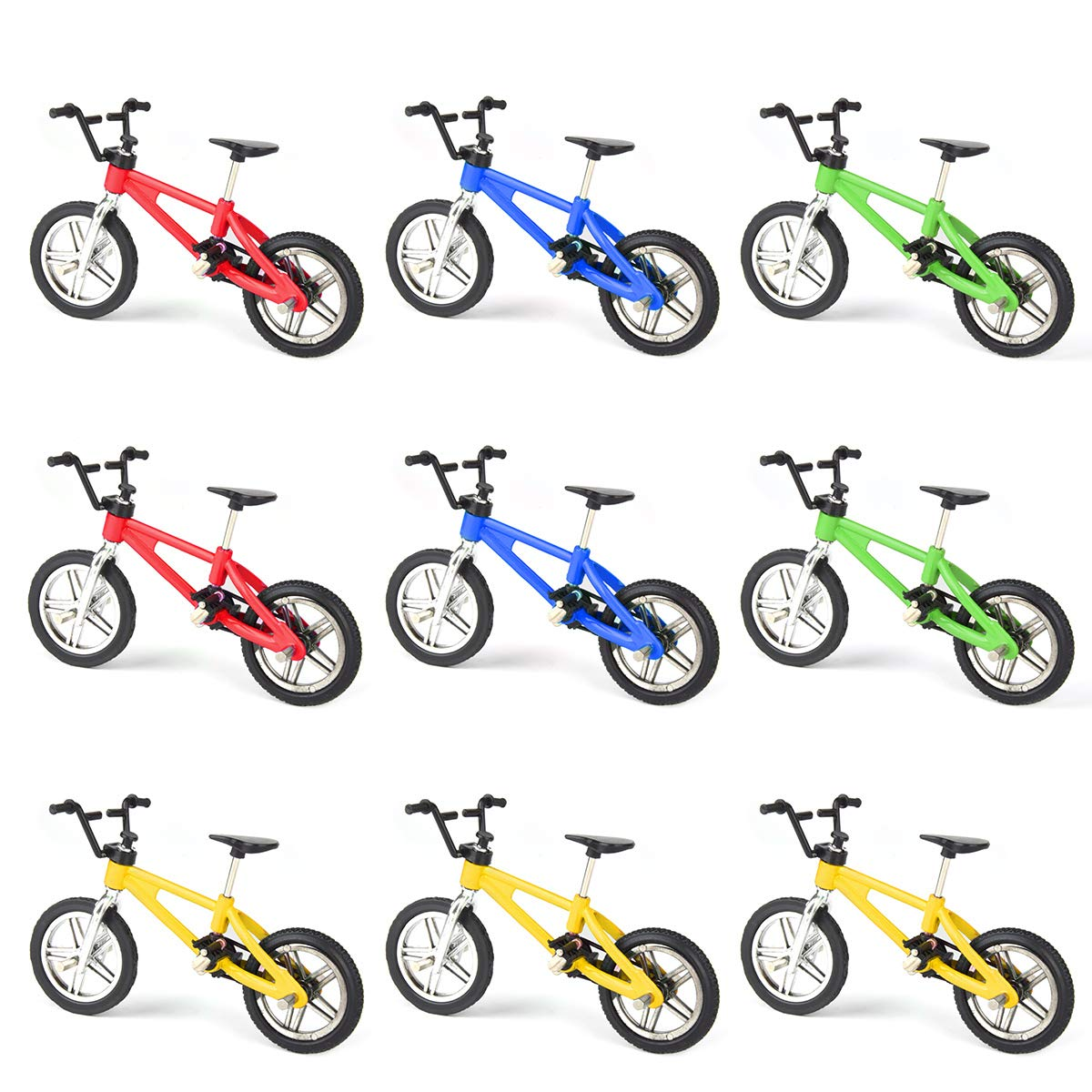 Hotusi 9pcs Mini Finger Bikes Mini Extreme Sports Finger Bicycle Toy Creative Game Toy Cool Boy Gifts(Random Colors) by Hotusi