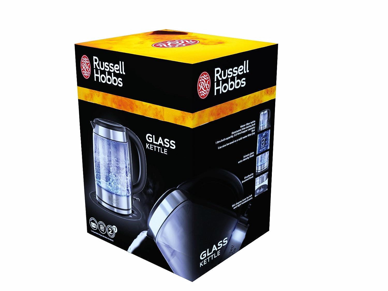 Russell Hobbs 21600-70 Hervidor jarra transparente 1.7 litros, Acero Inoxidable, Negro, Gris: Amazon.es: Hogar