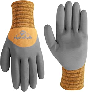 Wells Lamont 555M Men's HydraHyde Cold Weather Work Gloves, Water-Resistant Latex Coating, Medium