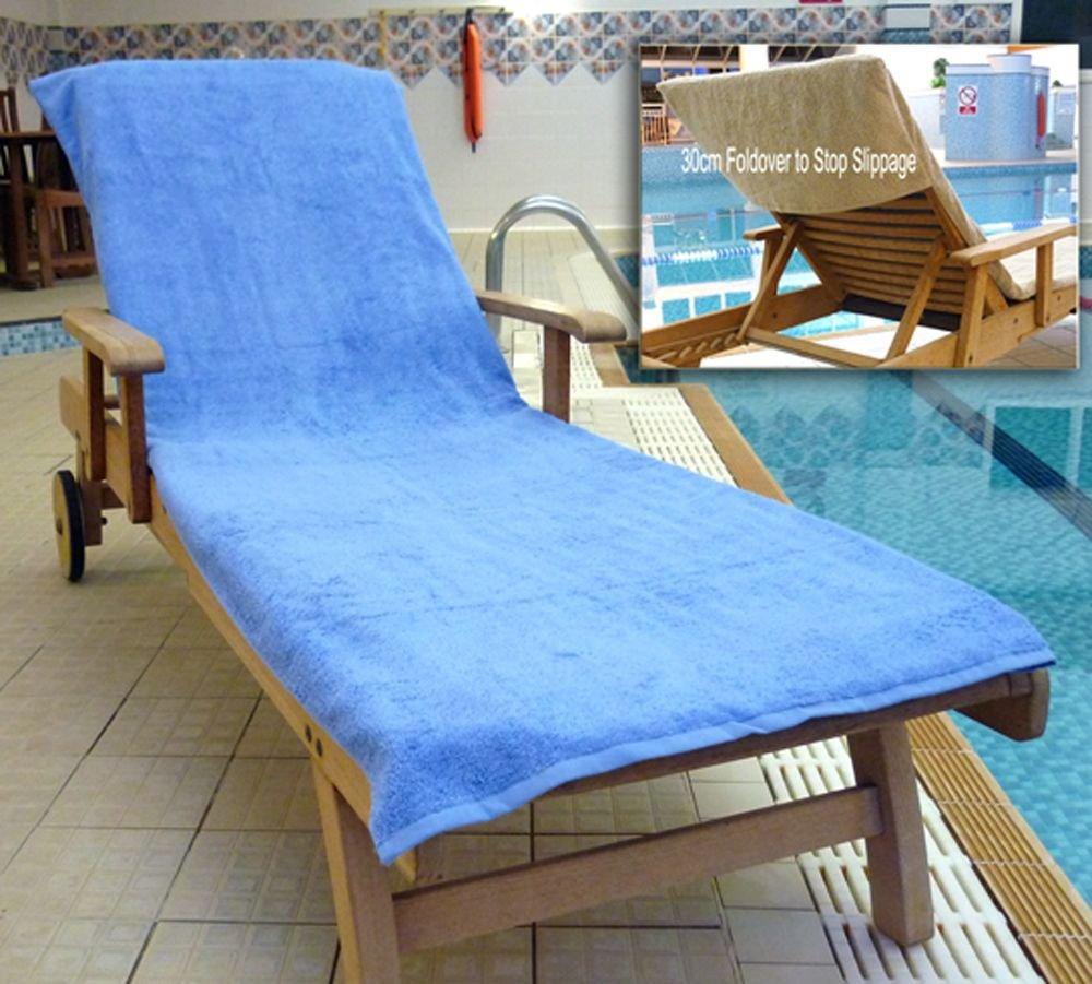 Bana Kuru cloro e resistente a figura intera asciugamano lettino prendisole con 30 centimetri lembo 500gsm in blu med Buytowels.co.uk