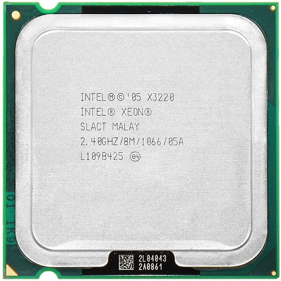 Intel Xeon X3220 2.4GHz LGA 775 8MB L2 Cache Quad-CORE 105W Working 100/%