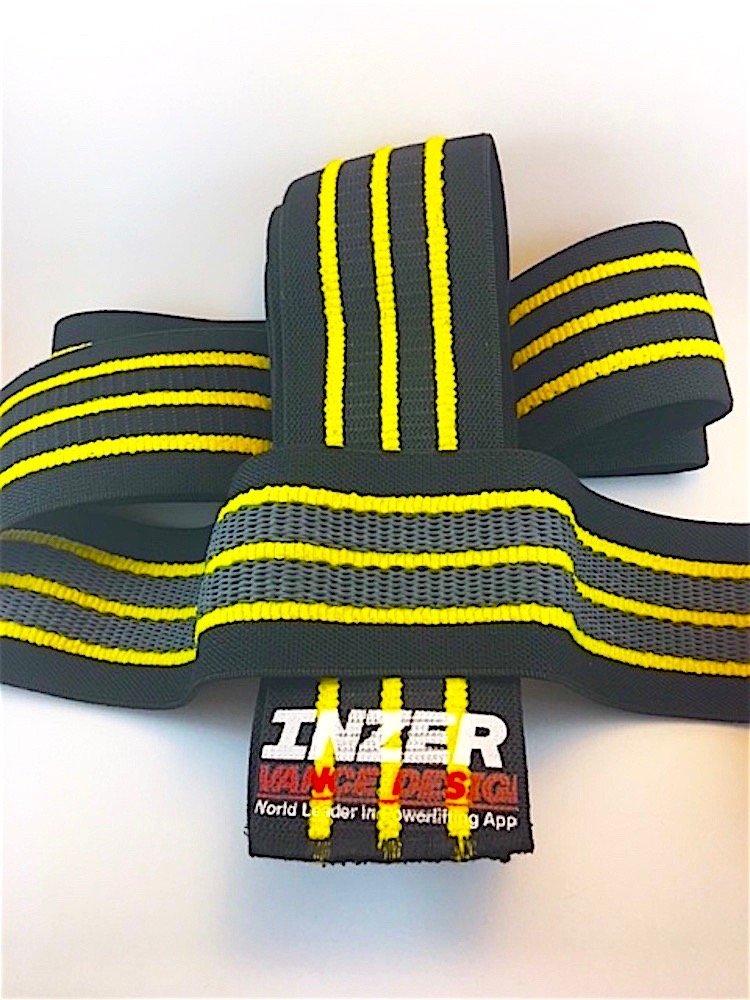 Inzer Advance Designs Gripper Knee Wraps (Yellow, 2.0 Meters)
