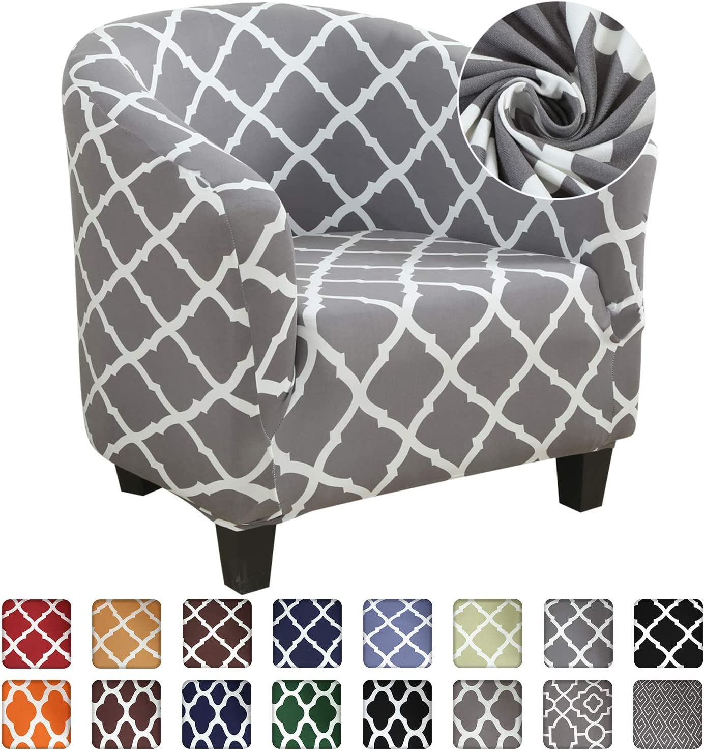 SearchI Club Chair Slipcover,Stretch Spandex Removable Geometric Pattern Armchair Covers, Sofa Cover Furniture Protector for Living Room Arm Chair Cover Geometric Couch Covers: Furniture & Decor