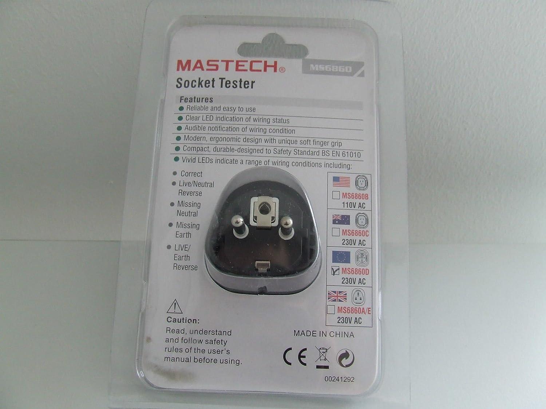 MS6860D Steckdosen Tester Mastech: Amazon.de: Baumarkt