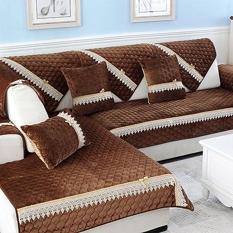 Amazon Com Sofa Covers Essen Plusch Sofakissensolide Holz