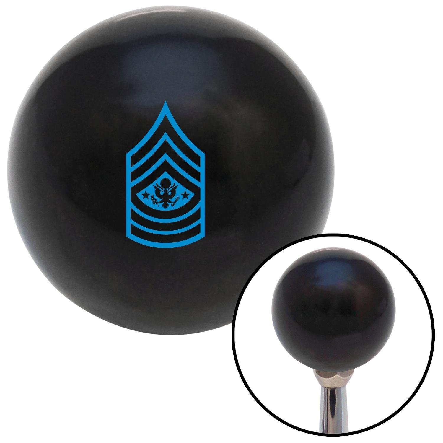 Blue Sergeant Major of The Army American Shifter 106658 Black Shift Knob with M16 x 1.5 Insert