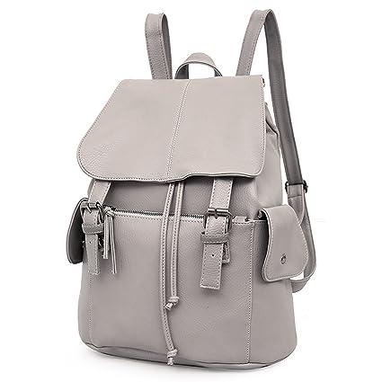 immagini dettagliate 636b9 1bf20 Outreo Zaino Donna Borse in Pelle da Studenti Borsa Scuola Università Zaini  Vintage Backpack per Ragazza Multifunzione Borsa Cuoio PU Borsello Firmate  ...