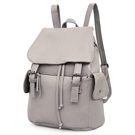 9ca3497489 Outreo Zaino Donna Borse in Pelle da Studenti Borsa Scuola Università Zaini  Vintage Backpack per Ragazza