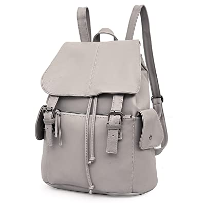 e5921b170a MeCool Women s Drawstring Backpack Girls Leather Over Shoulder Daypack  Casual Bag Wenkend Ladies Rucksack for Outdoor Trip Travel Party School  Laptop Day ...