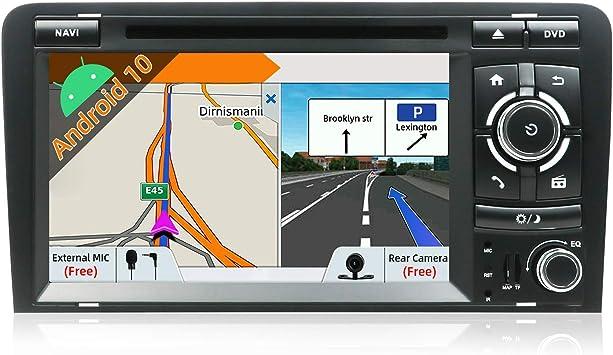 Autoradio Android 9.0-2 Din Est/éreo de navegaci/ón GPS Compatible Para Audi A4 2003-2011 Gratis C/ámara y Canbus 7 pulgada 2GB//32GB |SD |USB |DAB+ Soporte |3G//4G |WLAN Bluetooth|MirrorLink|Volante