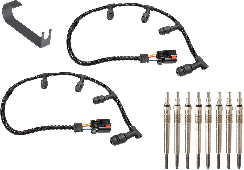 2004-2010 Ford 6.0L Powerstroke Diesel Glow Plug Harness Right /& Left Side Set