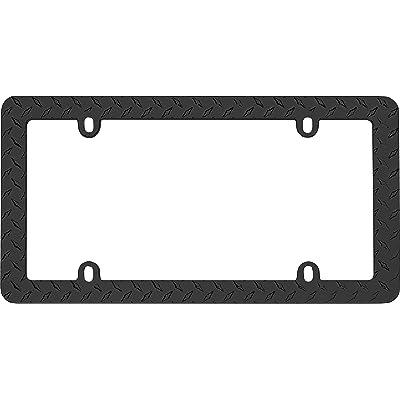 Cruiser Accessories 30850 Diamond Plate License Plate Frame, Matte Black: Automotive