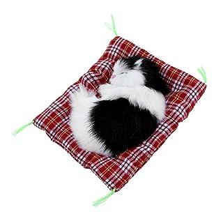 Mini Sveglio Bello Piccolo Animale di Simulazione Artigianato Bambola della Peluche di Sonno Pigro Gatto con Regalo di Compleanno del Suono Giocattolo per Bambini farciti Bambola Giocattolo