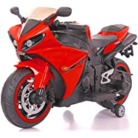Master Cycles Yamaha R1 Plastic Bike with Rechargeable Battery Operated Ride-on for Kids (Red , 2-6 Years)