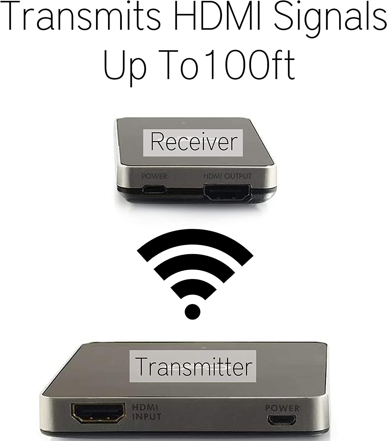 C2G Wireless HDMI Transmitter /& Receiver Kit Quick Setup With No Software Required Wirelessly Transmit HDMI Signals Up To 100ft Between Devices Works With Both Audio /& Video