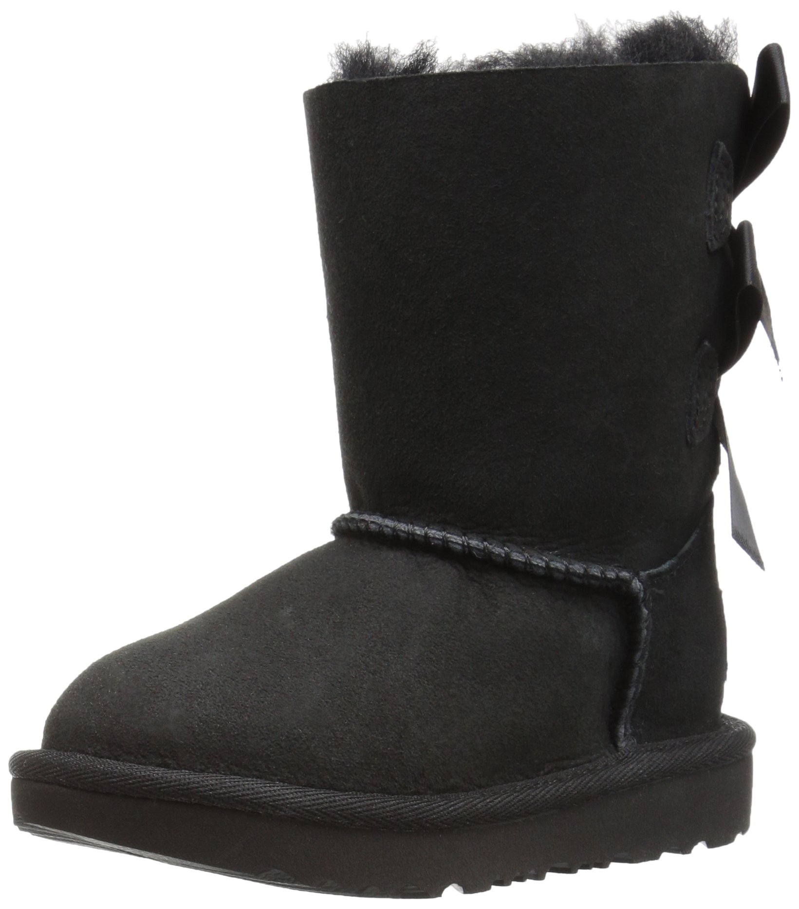 UGG Girls T Bailey Bow II Fashion Boot, Black, 7 M US Toddler