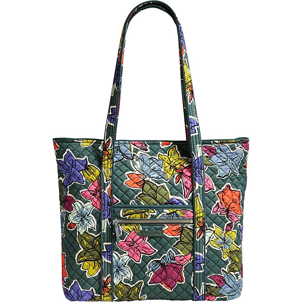 Vera Bradley Women's Iconic Vera Tote Falling Flowers Handbag