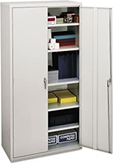 product image for HON SC1872Q Assembled Storage Cabinet, 36w x 18-1/4d x 71-3/4h, Light Gray