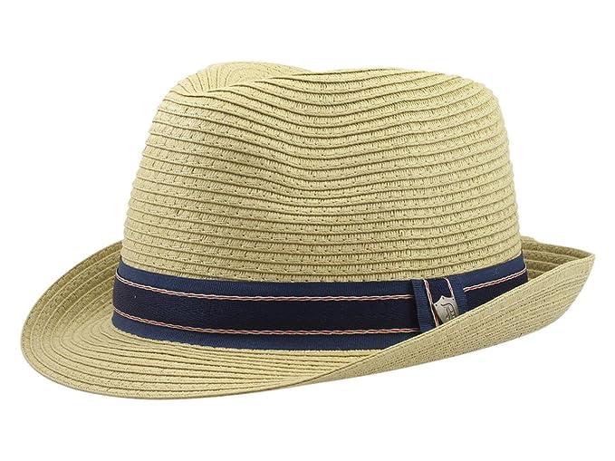 f7f85ea16c3 Dorfman Pacific Men's Natural Paper Braid Fedora Hat Sz: L at Amazon Men's  Clothing store: