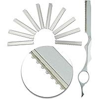 VAGA Set de 10 herramientas para peluqueros de acero inoxidable, repuestos de cuchillas para navajas para cortar el pelo…