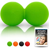 321 STRONG Double Lacrosse Ball Style Massage Balls - Great for Deep Tissue Massage and Trigger Point Release