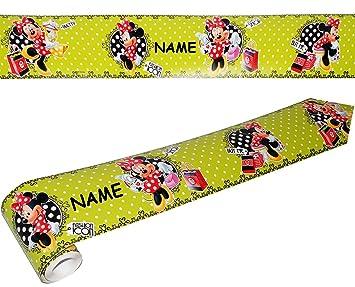 Unbekannt Wandbordüre - selbstklebend - Disney Minnie Mouse - 5 m - incl.  Name - Wandsticker / Wandtattoo - Bordüre Aufkleber Kinderzimmer - für ...