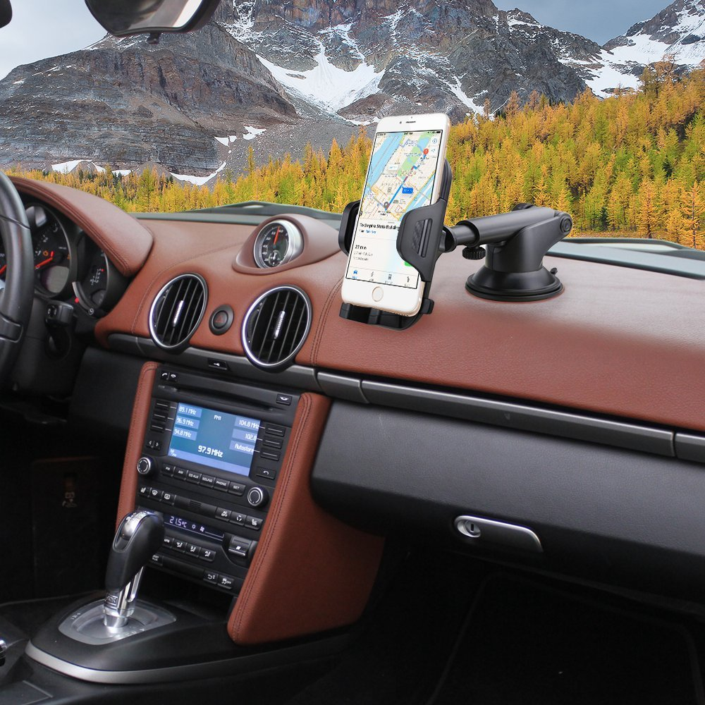 FayTun Supporto per Auto HTC Nokia,Blackberry,Huawei,LG,GPS e altri Universale Supporto Auto Regolabile 360 Grado Porta Cellulare Auto da Auto Air Vent Car Mount per iPhone,Samsung