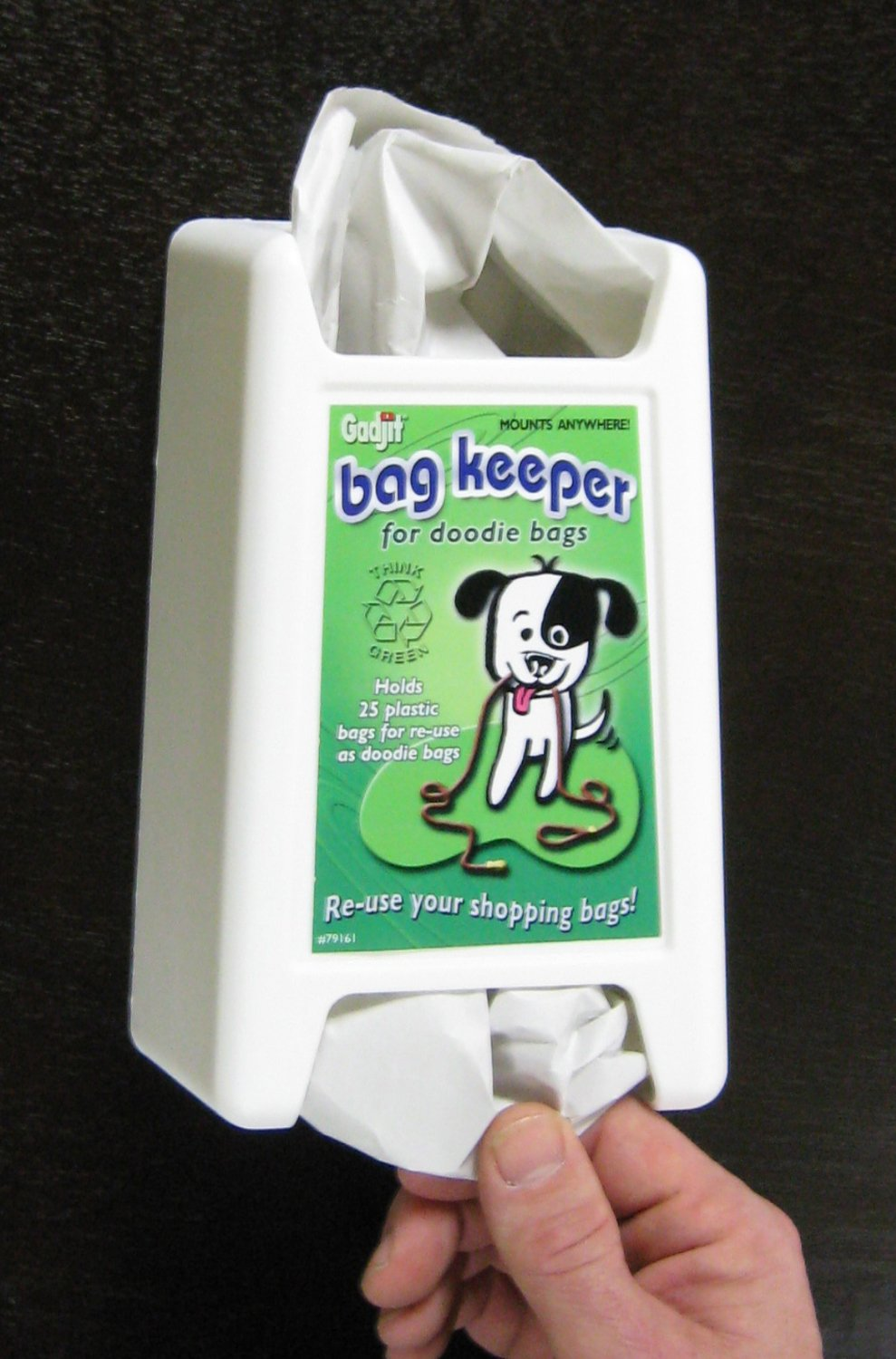 Plastic bag keeper - Amazon Com Doodie Dog Poop Plastic Bag Keeper Plastic Storage Unit That Holds 20 Reusable Plastic Grocery Bags And Dispenses Them One At A Time