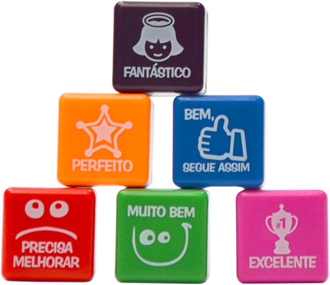 PACK 6 SELLOS MOTIVACIÓN PARA NIÑOS (portugués) português