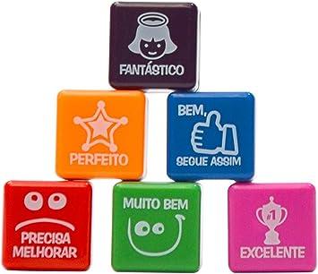 PACK 6 SELLOS MOTIVACIÓN PARA NIÑOS (portugués) português: Amazon ...