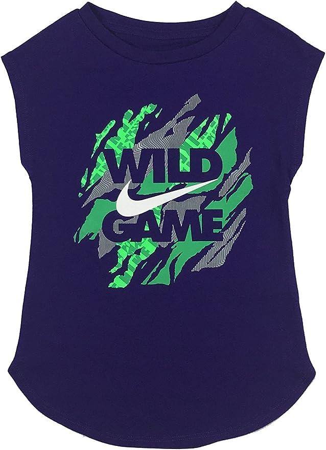 Nike Girls Grey Swoosh Tee Shirt aq7398 063
