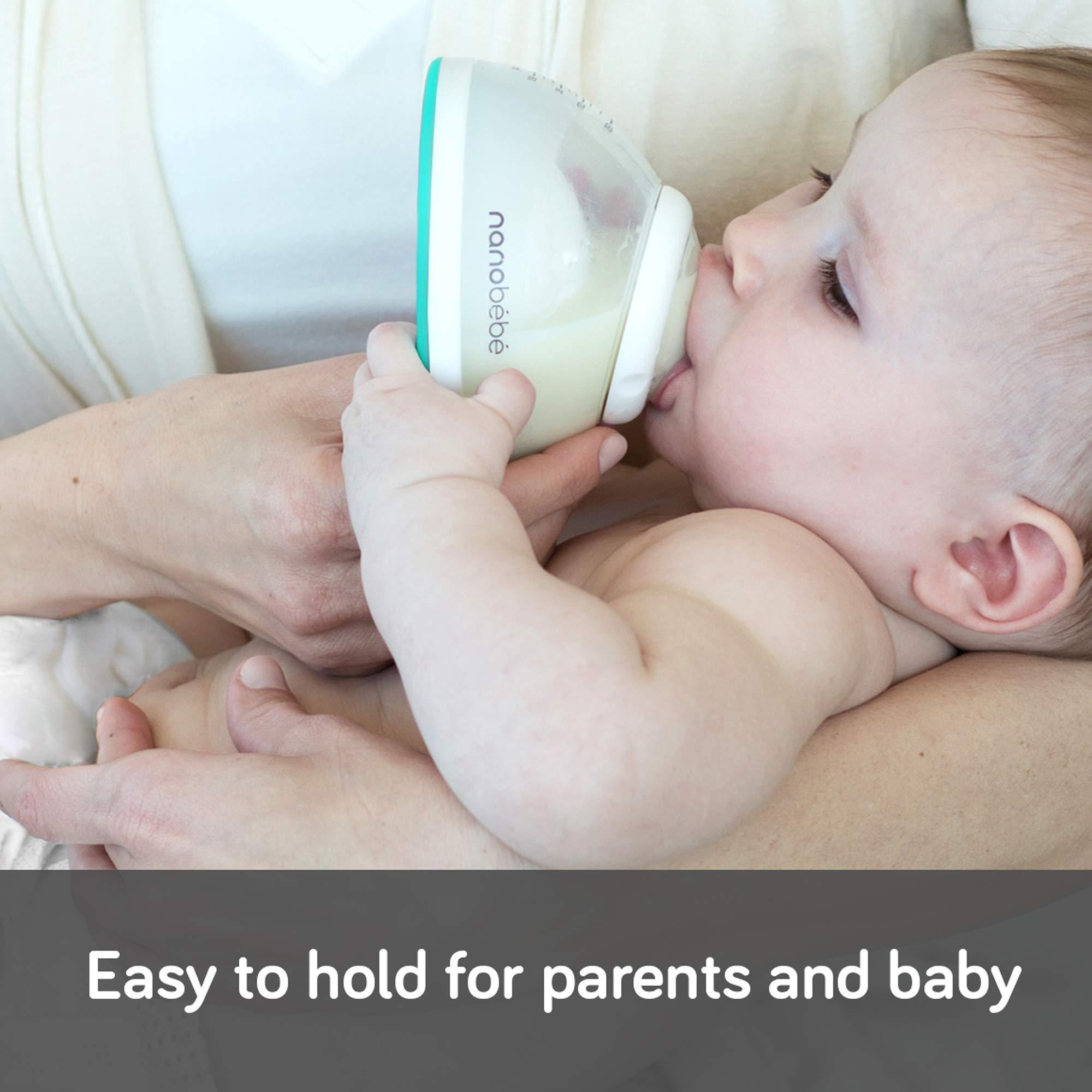 nanobébé Newborn Breastfeeding Bottles & Sterilization Kit – Anti Colic Baby Bottle Starter Set with Warming Bowl, Steam Sterilizer, Drying Rack, & Pacifiers – Top Registry Gift Set by NANOBÉBÉ (Image #3)