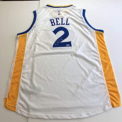 online store 3d6bf db323 Jordan Bell Autographed Signed Jersey Beckett Golden State ...