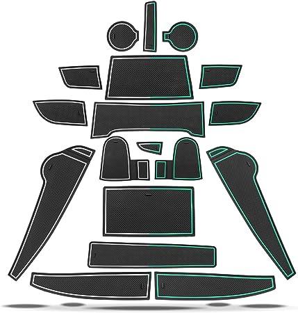 RUIYA Interior Puerta Seguridad Pad Cup Alfombrillas para 2018 Kona,Alfombrillas de Goma Antideslizante,Anti-Polvo Almohadilla de la Ranura de Puerta,decoraci/ón automotriz con Logo,18pcs Set