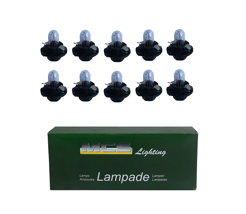 MELCHIONI 99802 Lampe 12 V 1,2 W Bx8.4d, Set von 10