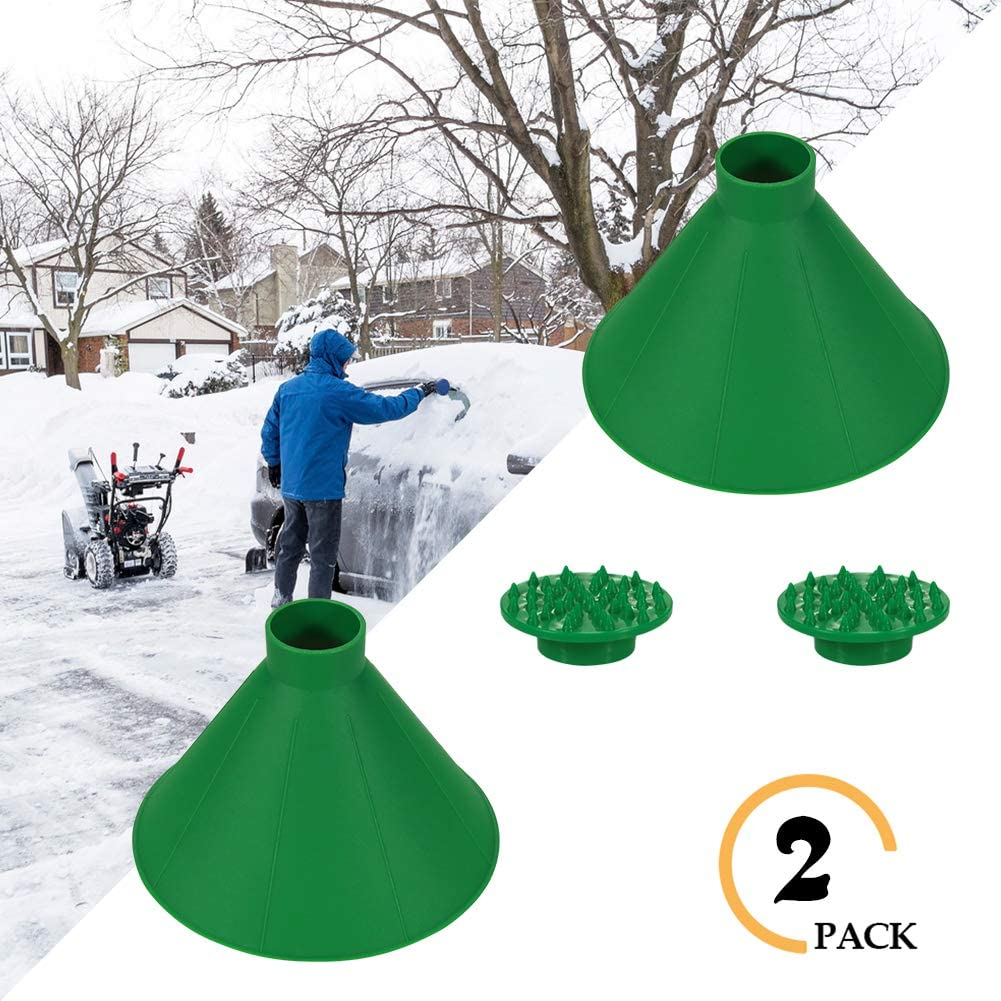 Kriszon Ice Scraper Outdoor Tool,Car Glass Scraper,Cone-Shaped Windshield Magic Funnel Car Windshield Snow Removal Tool