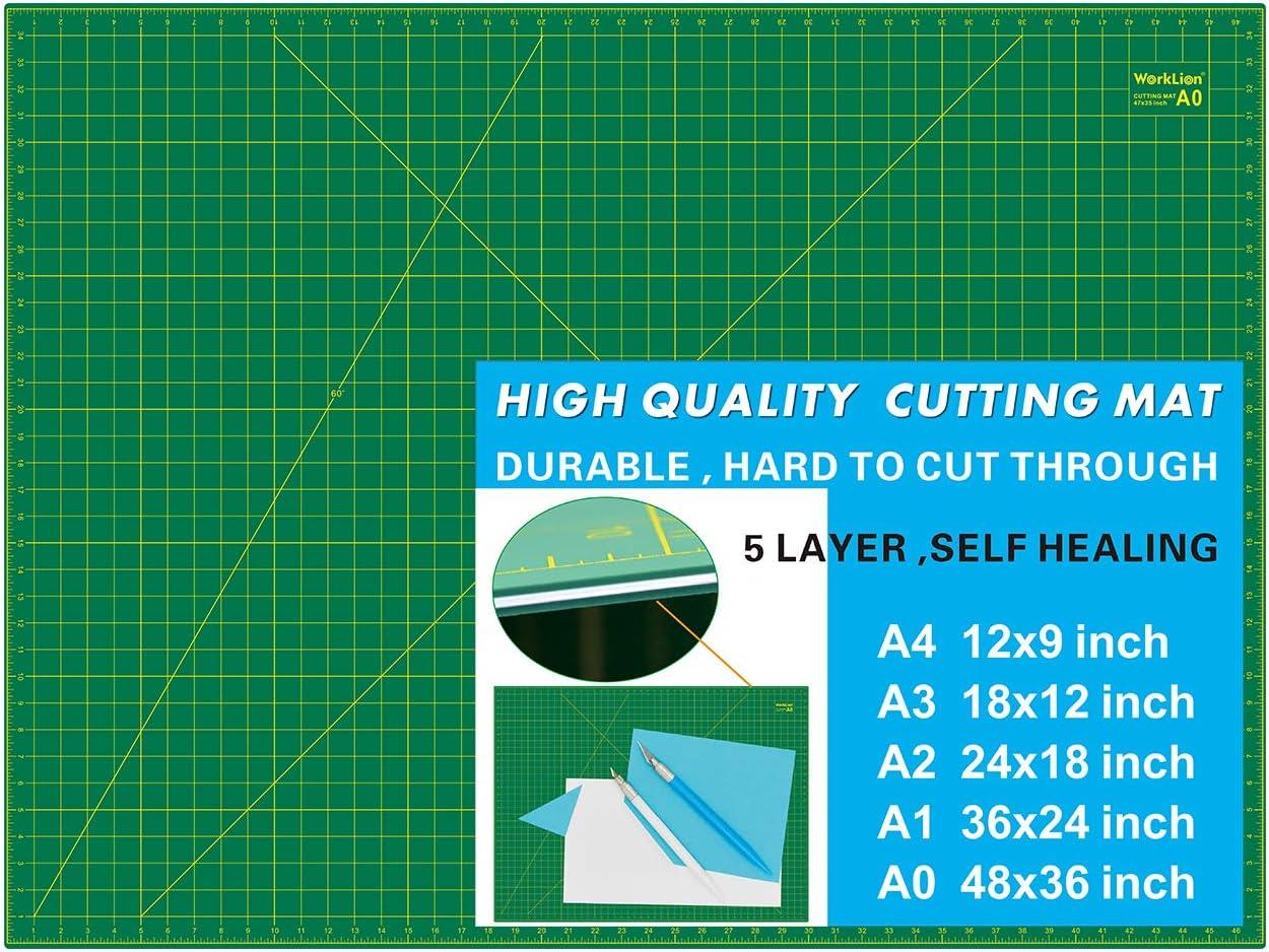 A3 A4 Large PVC Self Healing Cutting Mat Grid Line Printed Board Thick Craft DIY