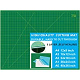 """WorkLion 36"""" x 48"""" Self Healing Cutting Mat: Double Sided 5-Ply Non-Slip - Professional for Scrapbooking & Quilting…"""