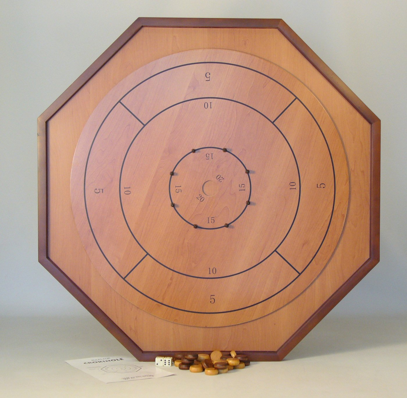 Crokinole - All Wood Table Top Game by WorldWise Imports