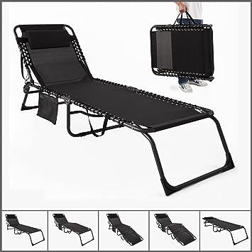 sobuy ogs10 sch transat bain de soleil chaise longue de jardin plage pliant chaise - Transat De Plage Pliable