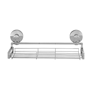 Amazon.com: Everloc Solutions Suction Cup Shower Shelf, Chrome: Home ...