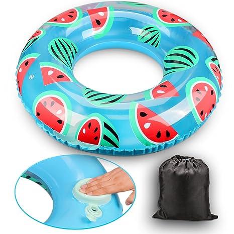 Olycism Flotador Anillo de Natación Rueda Hinchable Playa Piscina para Adultos y Niños