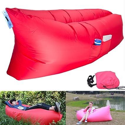 Amazon.com: larkoo al instante Hangout tumbona Lasy cama ...