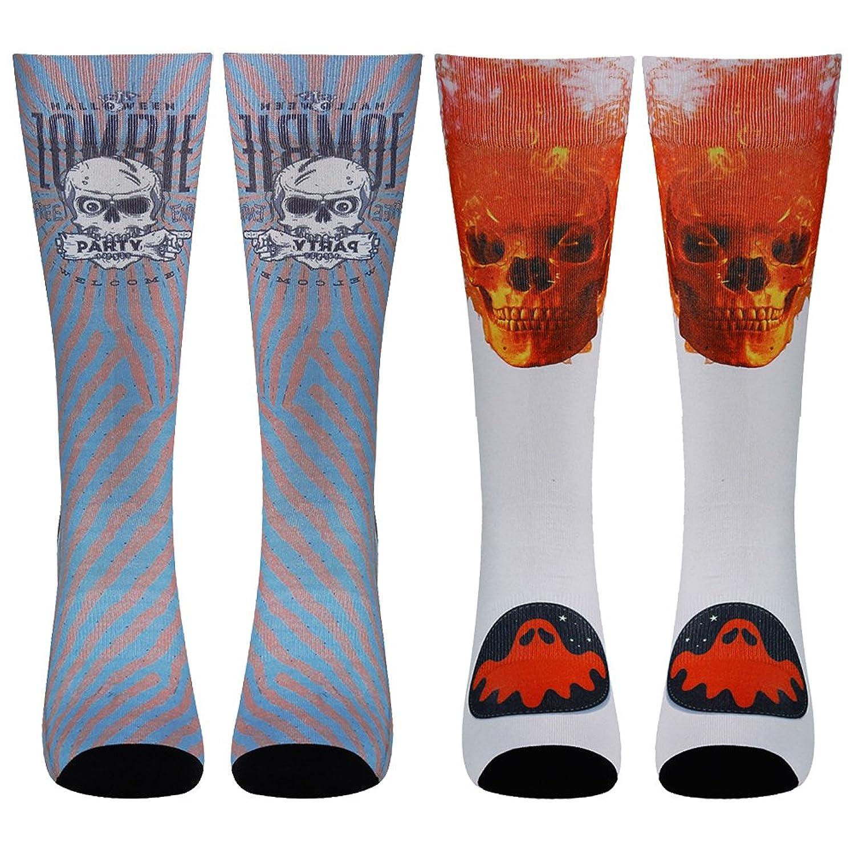 RTZAT Unisex Crazy Fun Color Novelty Printed Gift Crew Socks 1,2,4 Pairs