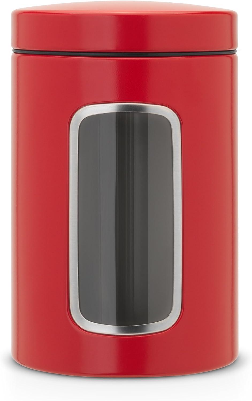 Brabantia Bote con Mirilla, Acero Inoxidable, Rojo pasión, centimeters
