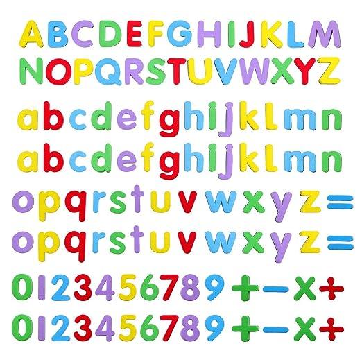 Números y Letras Magnéticas,108 Pack Alfabeto Imanes Imanes para ...